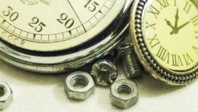 Cronómetro viejo del vintage Imágenes de archivo libres de regalías