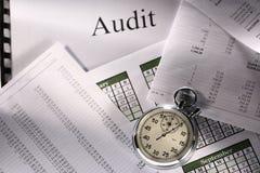 Cronómetro y auditoría Imágenes de archivo libres de regalías