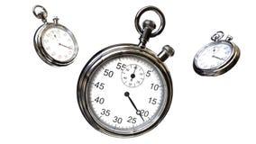 Cronómetro y texto del tiempo Fotos de archivo libres de regalías