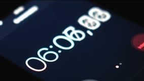 Cronômetro do lapso de tempo no smartphone video estoque