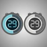 Cronômetro eletrônico de Digitas 29 segundos imagens de stock