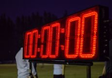Cronômetro para atlético imagens de stock royalty free
