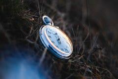 Cronômetro soviético do vintage velho foto de stock