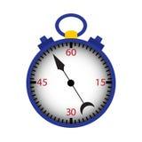 Cronômetro azul isolado sobre o branco Fotos de Stock Royalty Free