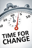 Cronômetro com tempo do texto para a mudança Fotografia de Stock