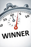 Cronômetro com vencedor do texto Foto de Stock