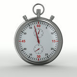 Cronômetro no fundo branco Fotos de Stock Royalty Free