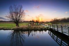 Cronesteyn park sunset Stock Photo