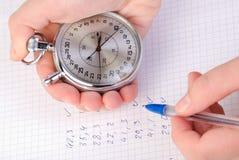 Cronómetro a disposición Imagen de archivo