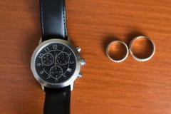 Cronografo degli orologi degli uomini Immagini Stock Libere da Diritti