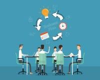 Cronología del proyecto del planeamiento de la anecdotario de la reunión de negocios de la gente stock de ilustración