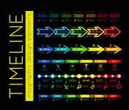 Cronología Infographic stock de ilustración