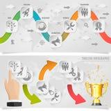 Cronología Infographic Fotografía de archivo libre de regalías