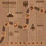 Cronología Infographic Imagenes de archivo