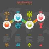 Cronología Infographic Imagen de archivo