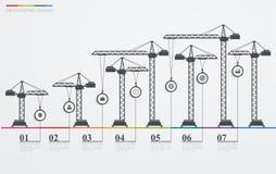 Cronología infographic del camino colorido con los iconos libre illustration