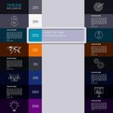 Cronología Infographic del vector Diseño simple moderno stock de ilustración