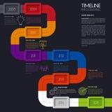 Cronología Infographic del vector Diseño simple moderno Imagen de archivo libre de regalías