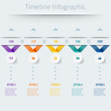 Cronología Infographic en estilo retro Foto de archivo