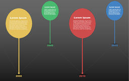 Cronología infographic, infographics de la cronología, línea de tiempo infograph Imagenes de archivo