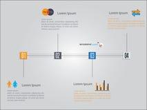 Cronología Infographic Modelo del diseño del vector Fotos de archivo