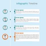 Cronología infographic personal Imagenes de archivo