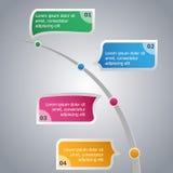 Cronología Infographics Fotos de archivo libres de regalías