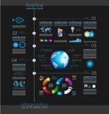 Cronología para exhibir sus datos con el elemento de Infographic libre illustration