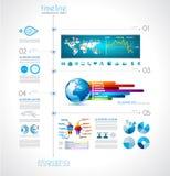 Cronología para exhibir sus datos con los elementos de Infographic stock de ilustración