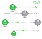 Cronología para exhibir sus datos con los elementos de Infographic Foto de archivo