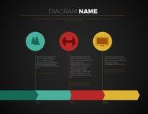 Cronología y jalón infographic stock de ilustración