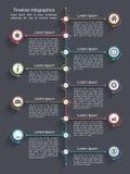 Cronología Infographics Imagen de archivo