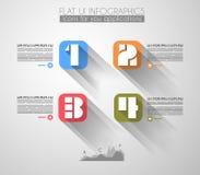 Cronolog?a para exhibir sus datos con los elementos de Infographic Fotos de archivo libres de regalías