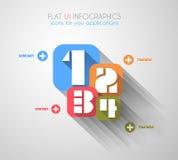 Cronolog?a para exhibir sus datos con los elementos de Infographic Fotografía de archivo