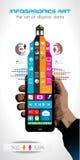 Cronolog?a para exhibir sus datos con los elementos de Infographic Fotos de archivo