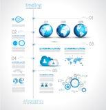 Cronolog?a para exhibir sus datos con los elementos de Infographic Foto de archivo