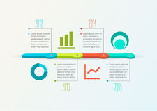 Cronologia astratta Infographic, progettazione di vettore Immagine Stock