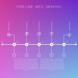 Cronologia bianca su fondo colorato vago Inte di tempo delle esposizioni illustrazione vettoriale