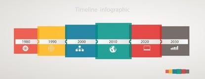 Cronologia con le icone, struttura annuale graduale di Infographic illustrazione vettoriale