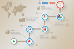 Cronologia creativa di affari, illustrazione di vettore Immagine Stock