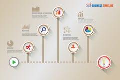 Cronologia creativa di affari, illustrazione di vettore Fotografia Stock Libera da Diritti