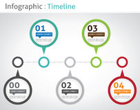 Cronologia di Infographic Fotografie Stock Libere da Diritti