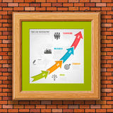 Cronologia Infographic di affari Fotografia Stock Libera da Diritti