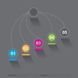 Cronologia per visualizzare i vostri dati con gli elementi di Infographic Fotografie Stock