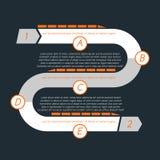 Cronologia torta con le sezioni separate designate dalle lettere B illustrazione vettoriale