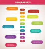 Cronologia variopinta. Modello di Infographic illustrazione vettoriale