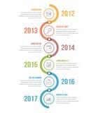 Cronologia verticale illustrazione vettoriale