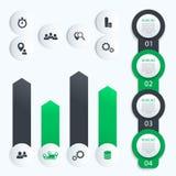 Cronologia verticale, infographics di affari illustrazione vettoriale