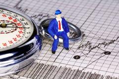 Cronometrando o mercado Imagens de Stock