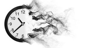 Cronometre a desintegração na poeira vídeos de arquivo